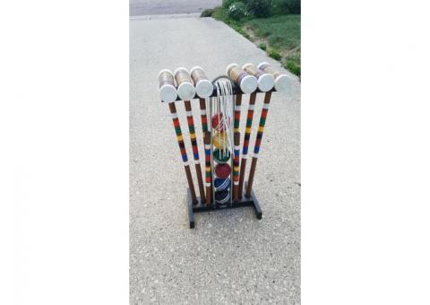Croquet set & Bocce ball set