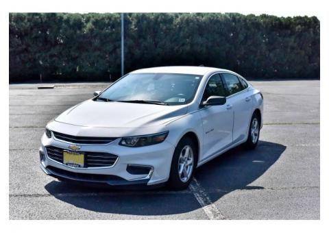 White 2016 Chevy Malibu $16,000.00